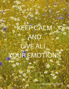 Keep calm live emotions